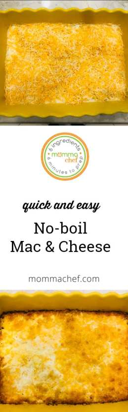 Quick and Easy No-Boil Mac and Cheese