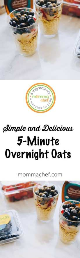Quick and Easy 5-Minute Overnight Breakfast Oats