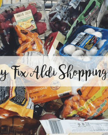 Aldi Shopping Cart of Food