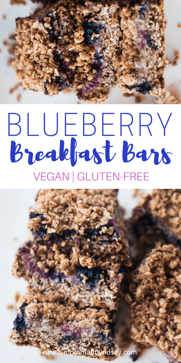 vegan blueberry breakfast bars
