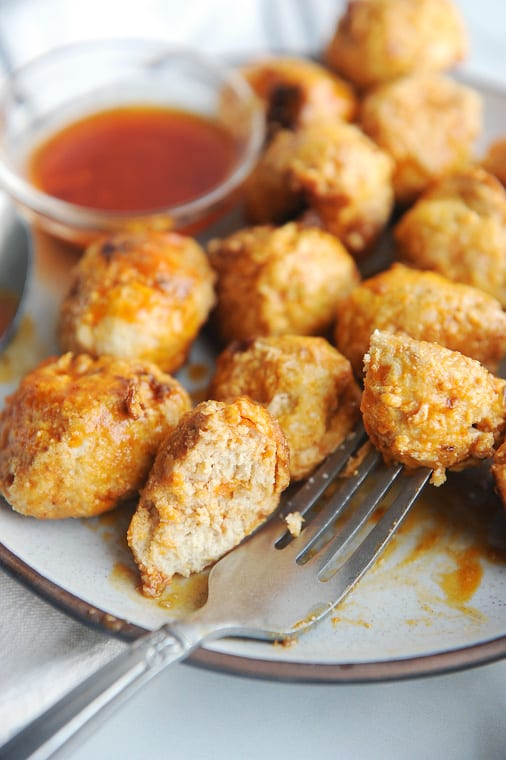 instant pot buffalo chicken meatballs that are healthy whole30 keto and paleo friendly