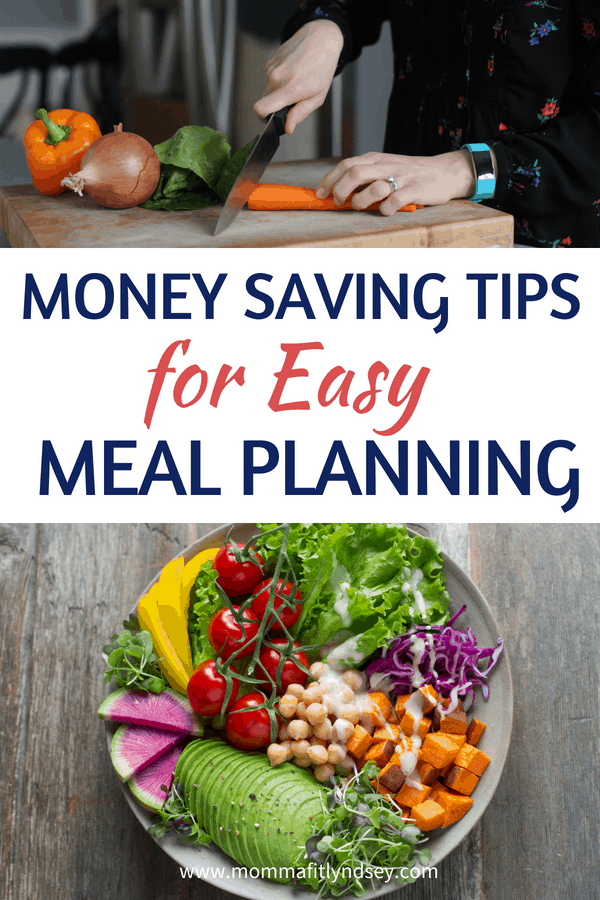 Money saving tips for easy meal planning