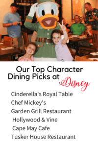 Disney Character Dining with Donald Duck