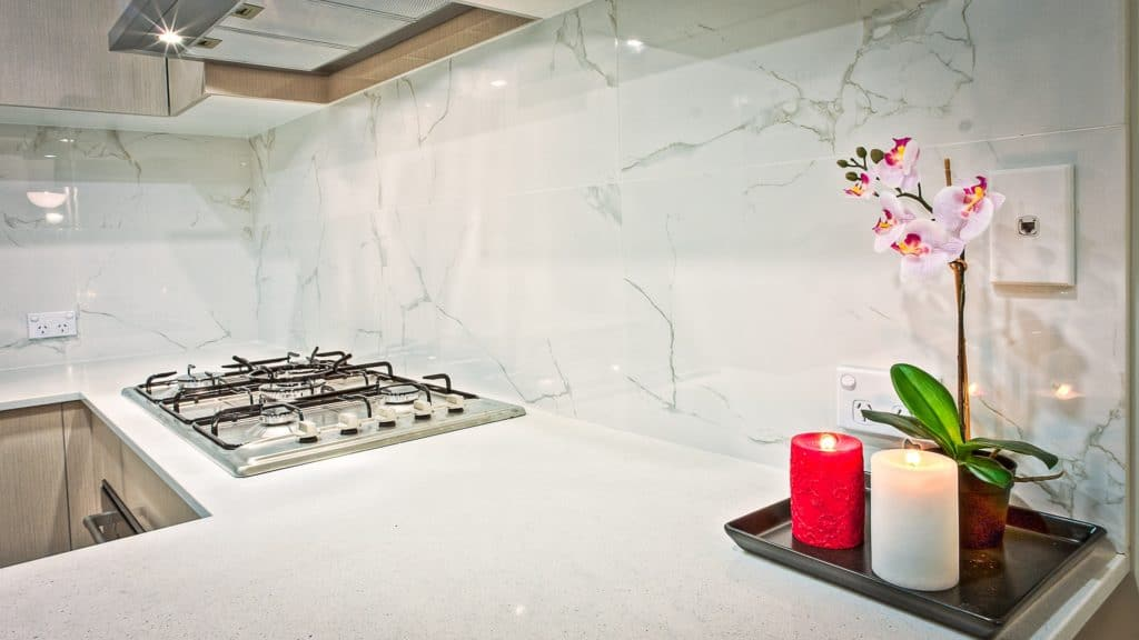 clean kitchen countertop