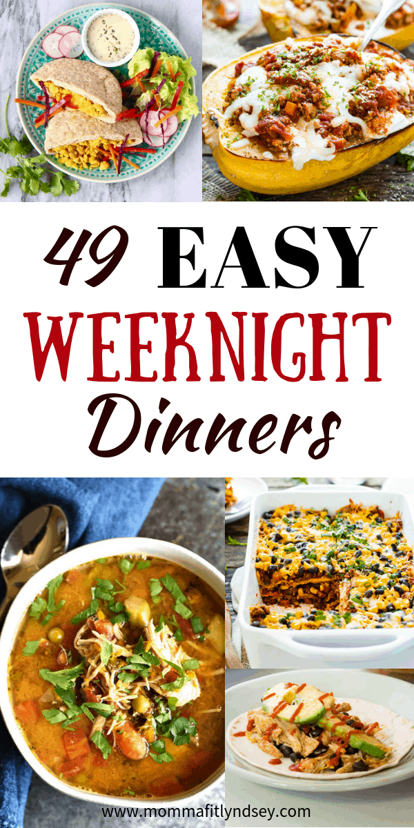 quick weeknight dinner recipes for healthy and easy and healthy family weeknight meals