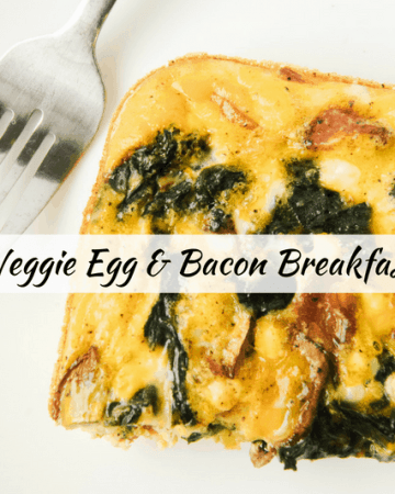 Low Carb Veggie Egg Bacon Casserole