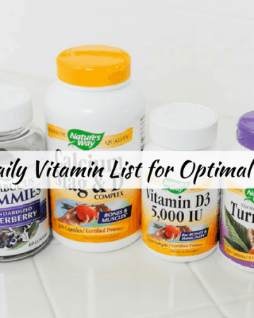 daily list of vitamin for womens health
