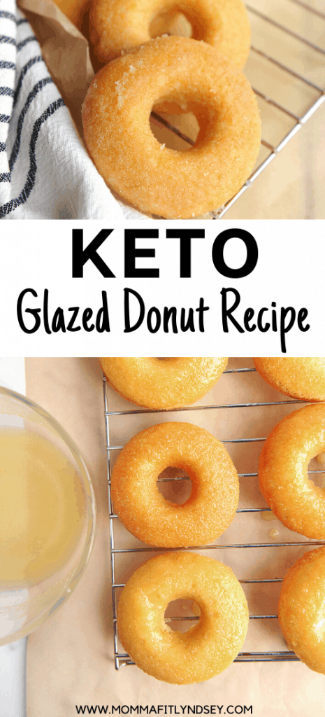 krispy kreme glazed keto donut recipe. easy to make with coconut flour, almond flour and baked in the oven.
