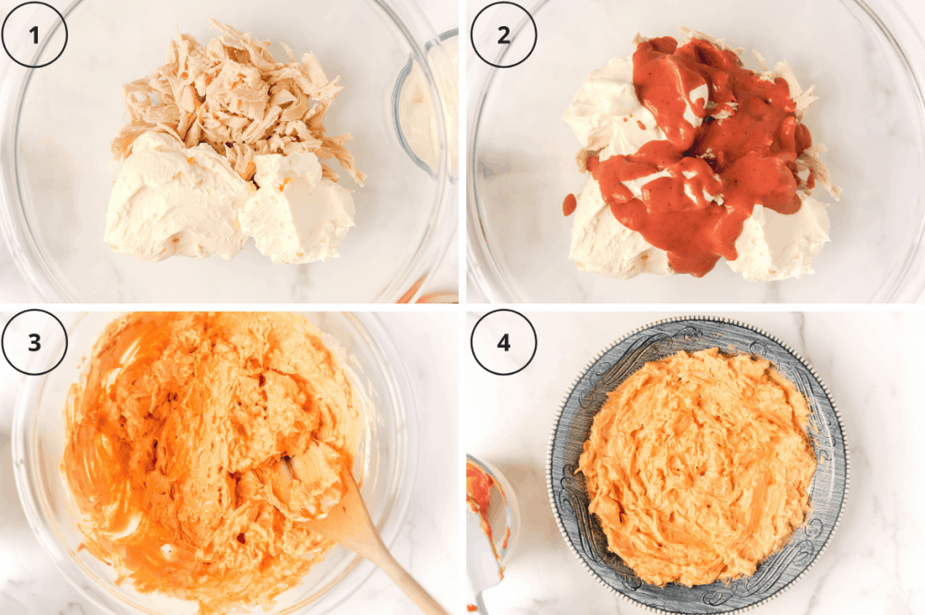 steps for making buffalo chicken dip