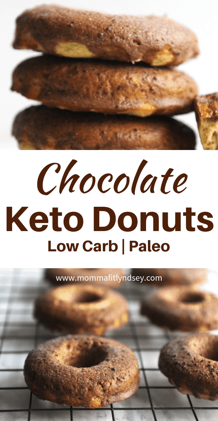 an easy chocolate keto donuts recipe for ketogenic breakfast or snacks