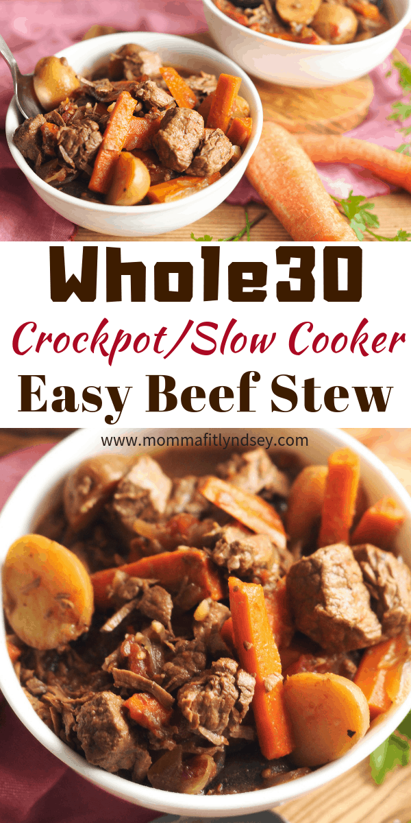 whole30 beef stew is a simple weeknight crockpot meal that can be made ahead