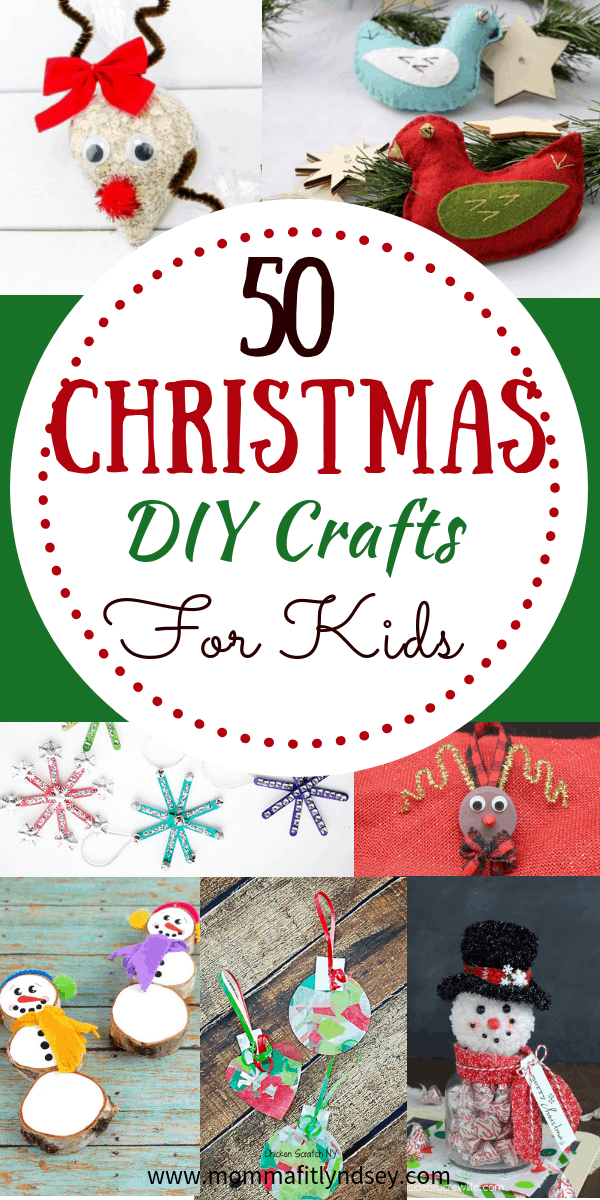 50 easy DIY christmas crafts to do with kids or preschoolers