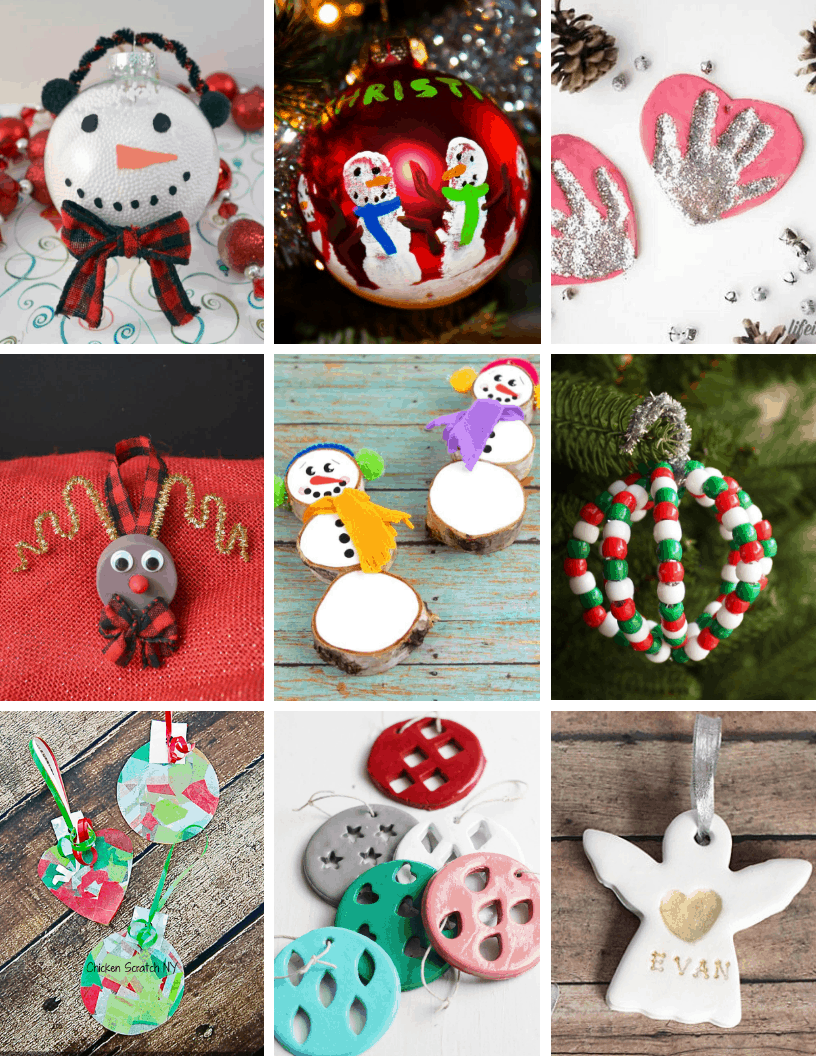 easy diy christmas ornaments for kids and preschoolers
