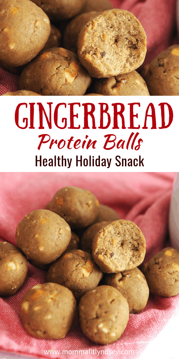 gingerbread protein ball recipe is a healthy holiday snack