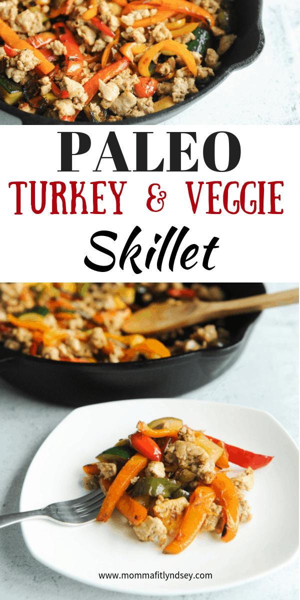 paleo turkey veggie skillet recipe