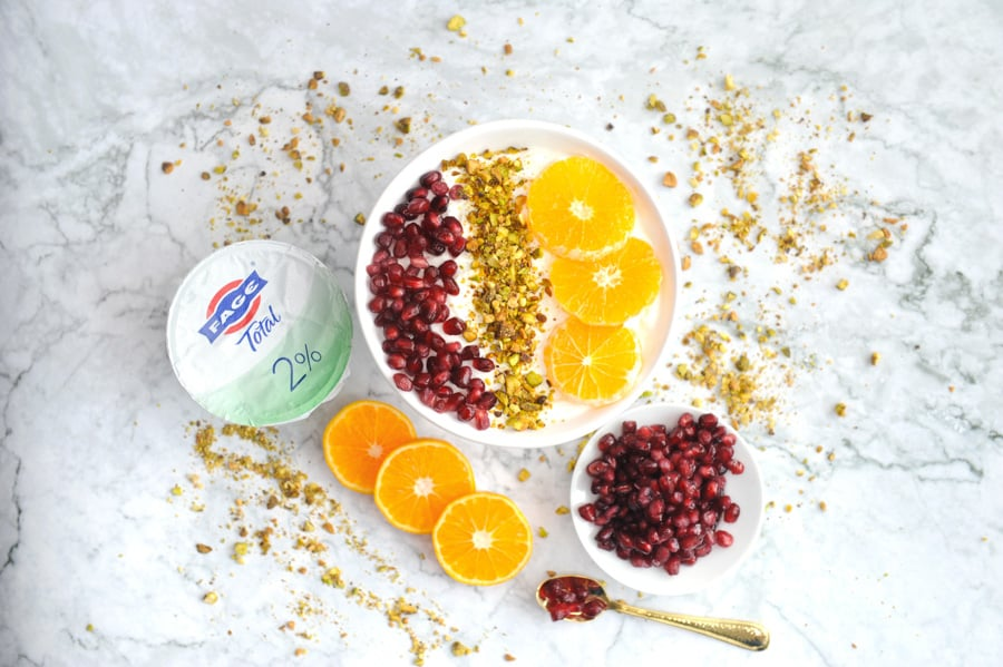 citrus pomegranate yogurt parfait breakfast yogurt parfait greek yogurt bowl for an easy high protein breakfast