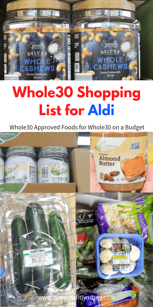 tips for doing whole30 at aldi and finding a whole30 shopping list