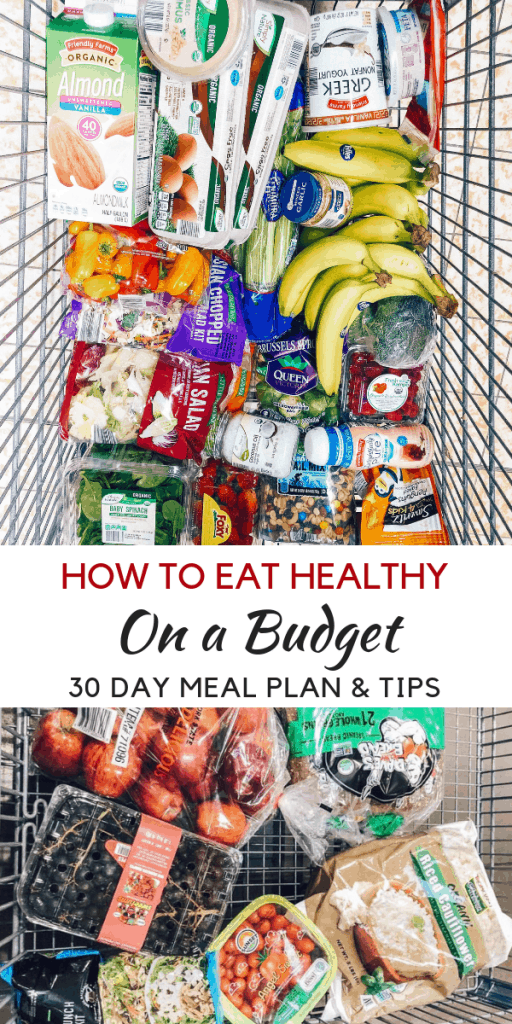 Looking to learn how to eat healthy on a budget? healthy Lifestyle Blogger Momma Fit lyndsey is sharing her monthly meal plan to help you keep your grocery budget in line