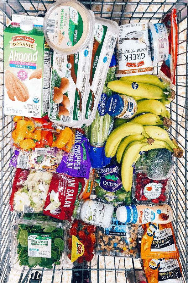 Looking for a grocery list ideas for eating healthy?  I'm sharing my budget meal plan and how to make a grocery list to reduce your food spending!