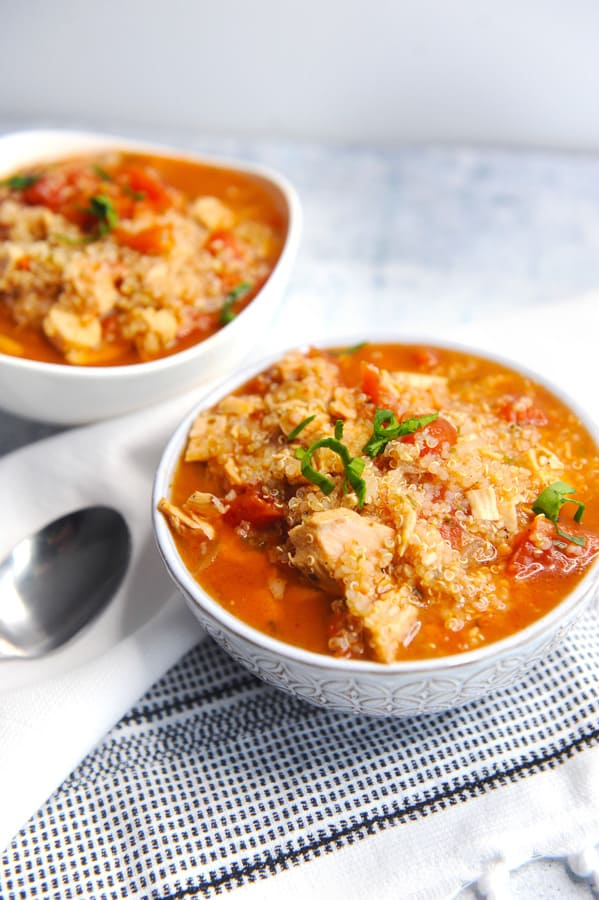 chicken quinoa italian soup is a gluten free healthy instant pot soup recipe for dinner
