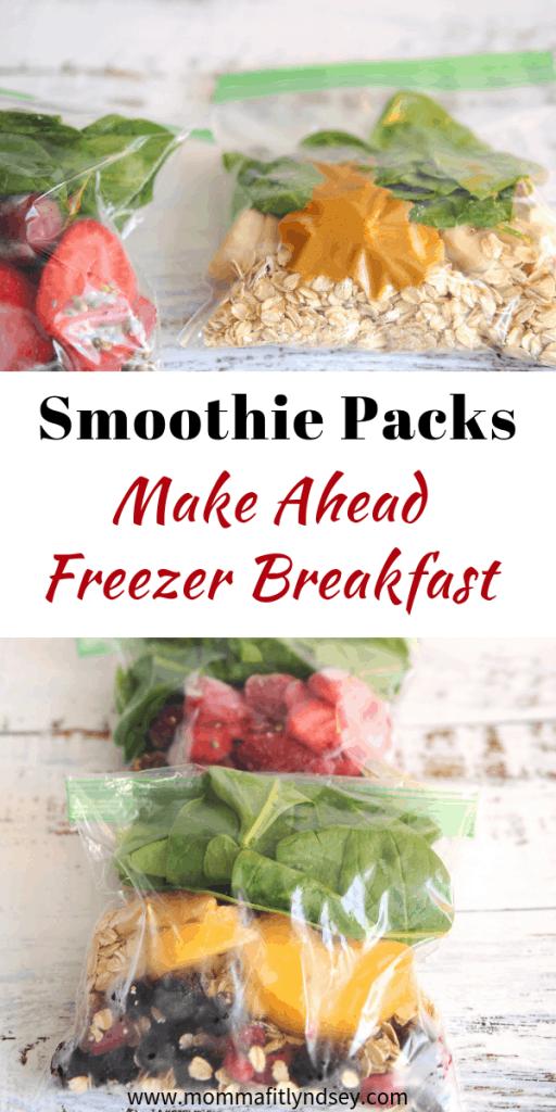 make ahead freezer breakfast for an easy healthy breakfast