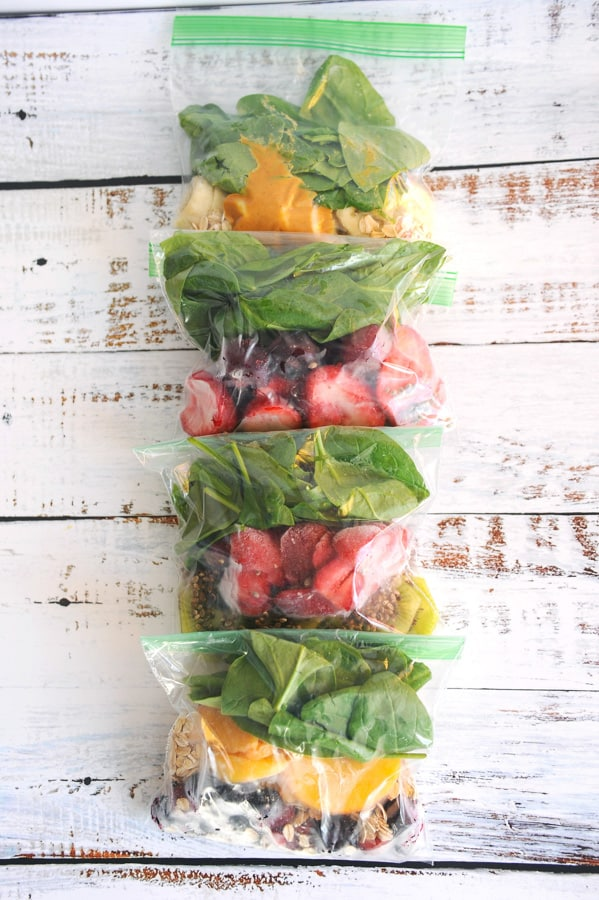 smoothie ideas for an easy healthy breakfast