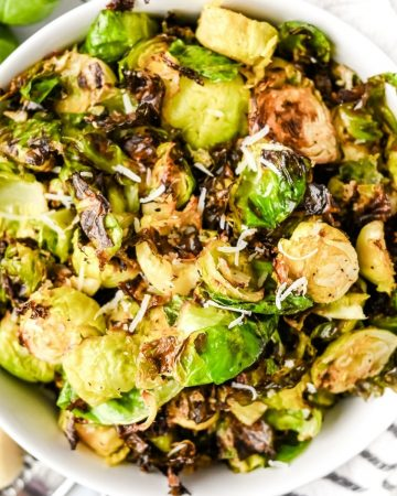bowl of crispy brussel sprouts