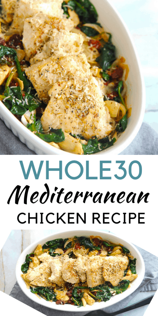 Looking for a whole30 chicken recipe? healthy Lifestyle Blogger Momma Fit lyndsey is sharing one of her favorite easy whole30 chicken dinner recipes