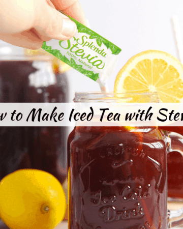 Wondering how to make iced tea? healthy Lifestyle Blogger Momma Fit lyndsey is sharing her favorite way to make iced tea with stevia