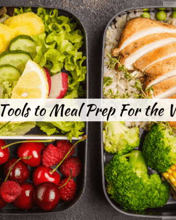 Looking for tips to meal prep for the week? healthy Lifestyle Blogger Momma Fit lyndsey is sharing her favorite tools to meal prep for the week
