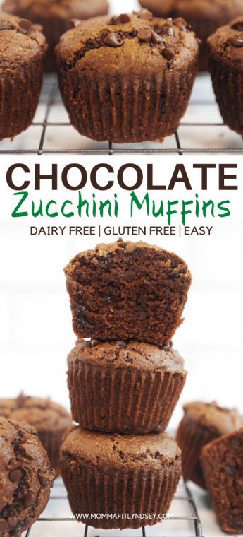the best healthy chocolate zucchini muffins! Easy to make moist muffins that kids will love! double chocolate zucchini muffins that are gluten free, healthy and dairy free!