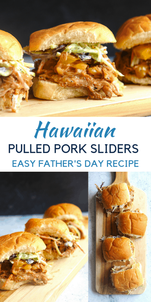 Looking for pulled pork crock pot recipes for the slow cooker or instapot for father's day food? Healthy lifestyle blogger Momma Fit Lyndsey shares her favorite father's day food - hawaiian pulled pork sliders