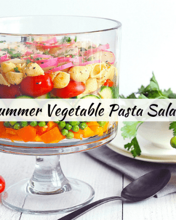Looking for a summer veggie pasta salad that is easy and healthy? Healthy lifestyle blogger Momma Fit Lyndsey shares her best veggie vegan pasta salad recipe