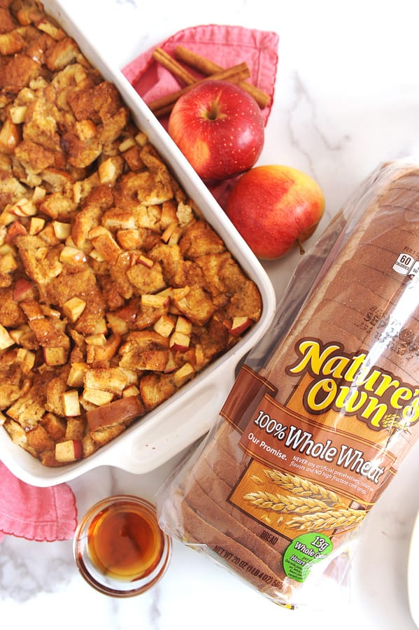 healthy breakfast ideas for kids including baked apple cinnamon french toast