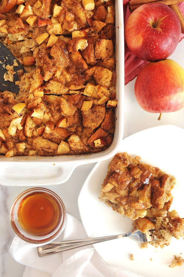 two easy and fun breakfast ideas for kids - baked apple cinnamon french toast and grilled peanut butter and banana sandwiches