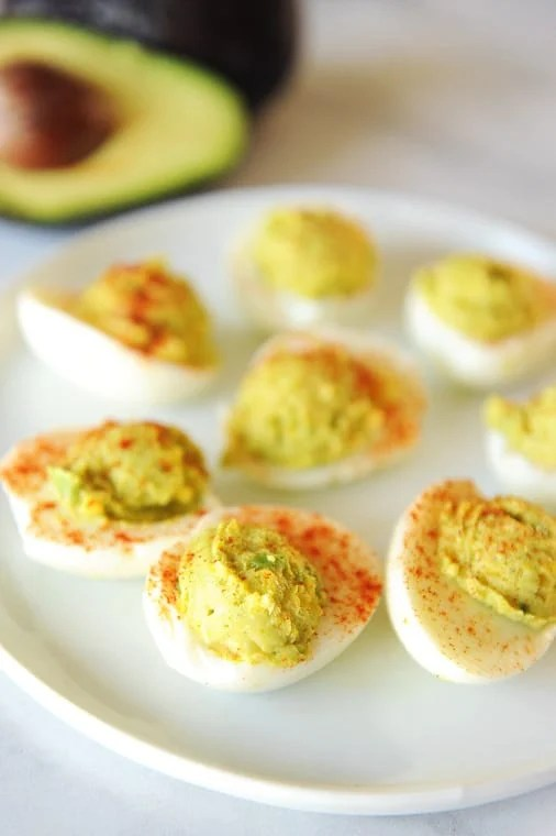 keto deviled eggs with avocado for clean keto recipes and eating