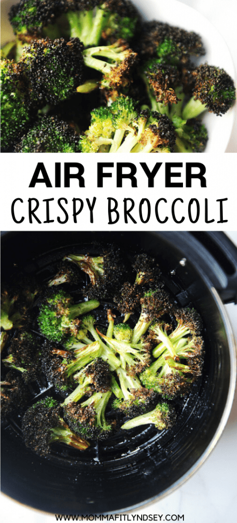 Air Fryer Broccoli is an easy to make healthy side dish. This is the best crispy broccoli recipe done in under 10 minutes!