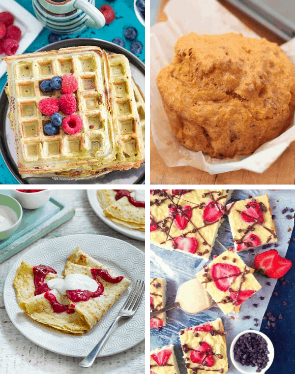 vegan waffles muffins and pancake recipes for plant based breakfast ideas