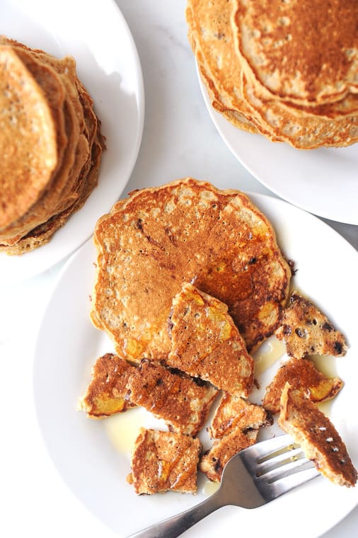 easy recipe for oat flour pancakes using homemade oat flour
