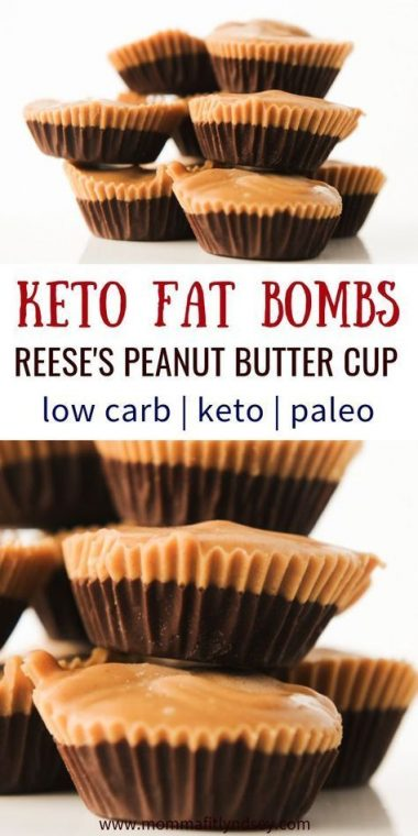 Best Easy keto fat bombs that taste sweet and just like Reese's chocolate peanut butter cup. One of the best ketogenic diet snacks