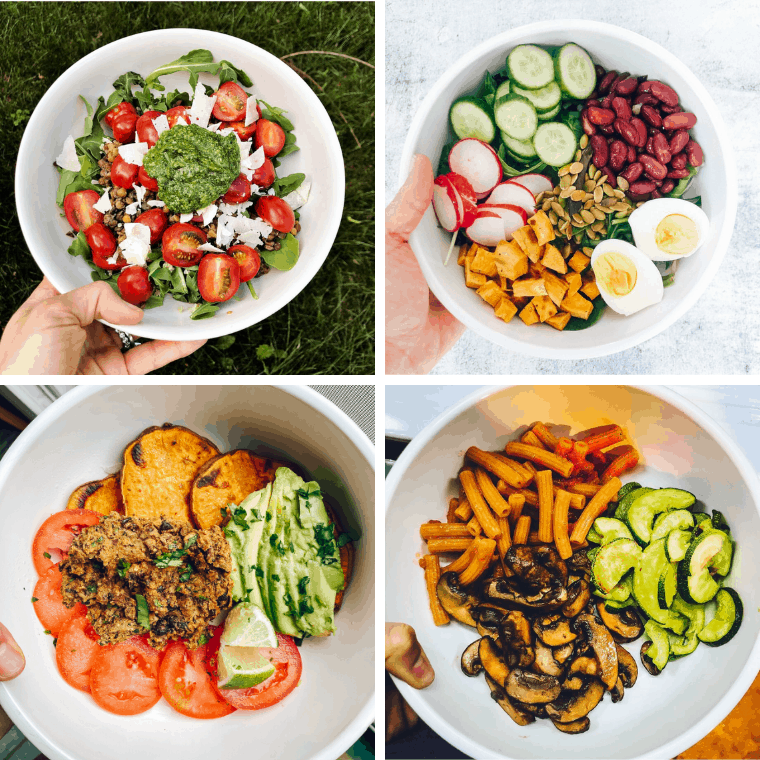 Need some lunch inspiration for the plant based diet? Here are a few of my favorite plant based lunch ideas that are easy to prep and delicious to make!