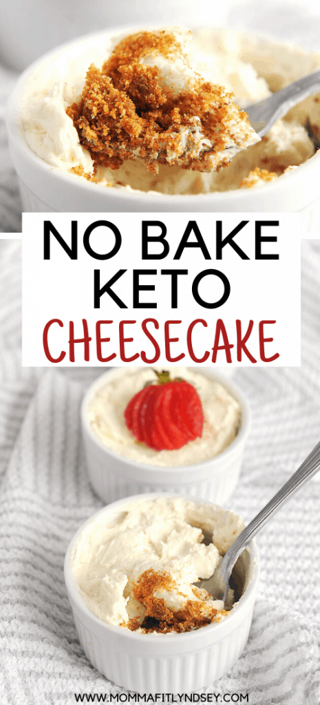 easy no bake keto cheesecake cups for one. Delicious keto cheesecake filling with keto cheesecake crust.