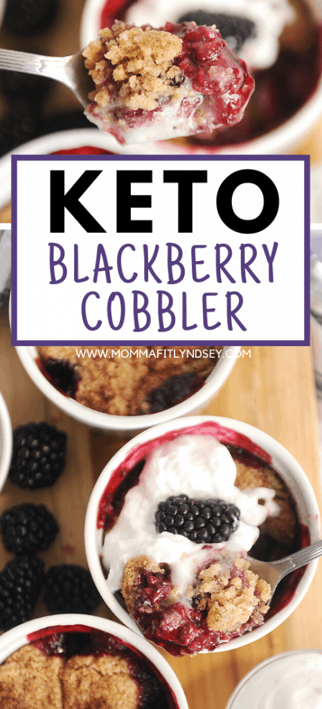 best keto blackberry cobbler recipe that is easy to make with almond flour