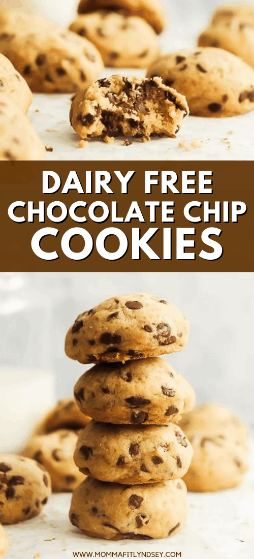 the best dairy free chocolate chip cookie recipe! Easy to make gluten free and vegan using coconut oil and gluten free flour. Soft and chewy chocolate chip cookies that are homemade and completely delicious!