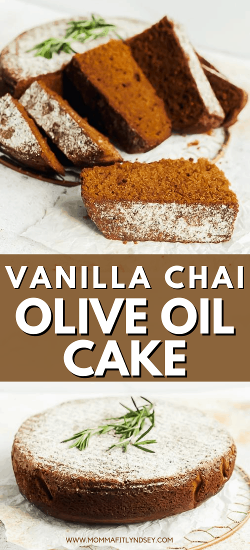 Vanilla chai olive oil cake recipe for moist and easy to make Italian olive oil cake. Dairy free and no refined sugar simple olive oil cake recipe.