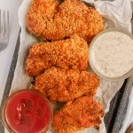 You can make Air Fryer Chicken Cutlets at home in your air fryer! This are a healthy chicken recipe is moist, crispy and coated with crunchy cereal topping!