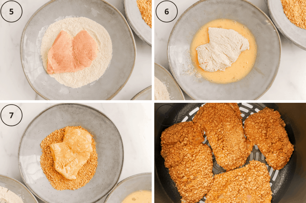 how to bread chicken