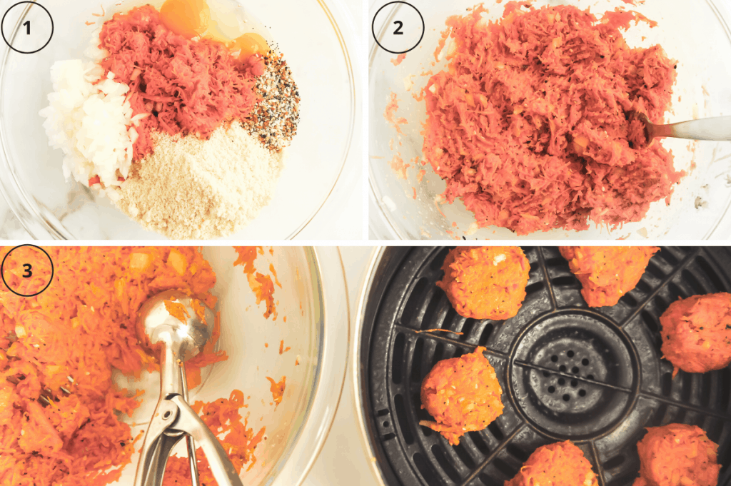 steps for making sweet potato hash browns