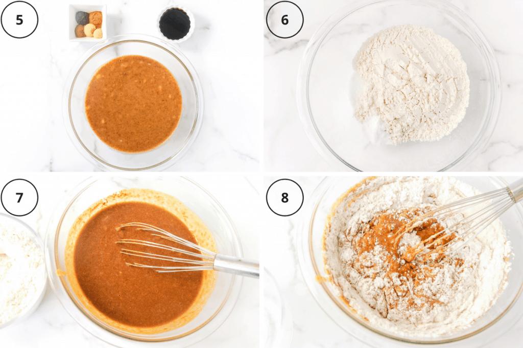 steps for making healthy gingerbread loaf