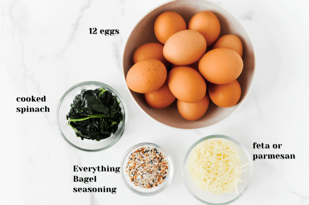 ingredients for making egg muffin cups